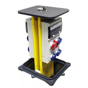 retractable power pedestal