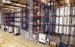 automatic storage system with stacker crane