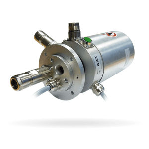 electric slip ring / Ethernet / column type / for small rotating systems