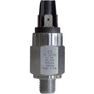 piston pressure switch / diaphragm / adjustable / stainless steel