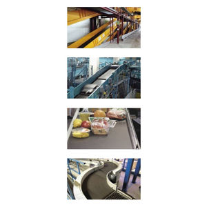 PVC conveyor belt / fabric / fire-resistant / with friction lining