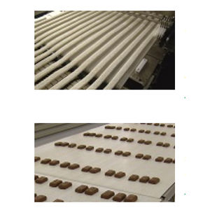 thermoplastic conveyor belt / polyolefin / for the food industry