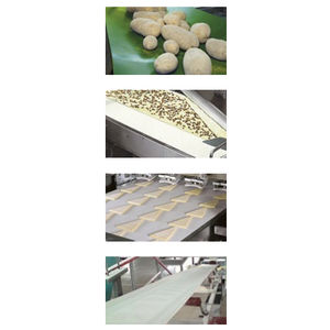 flexible conveyor belt / PVC / for the food industry / for heavy loads