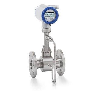 vortex flow meter / for liquids / for water / for chemicals