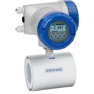 electromagnetic flow meter / for water / for wastewater / for conductive liquids