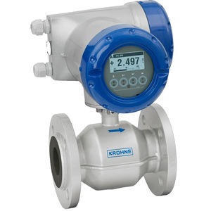 electromagnetic flow meter / for water / for chemicals / for wastewater