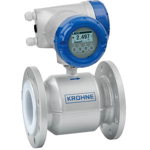 electromagnetic flow meter / for water / for chemicals / for slurry