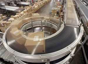 belt conveyor / for the food industry / horizontal / curved