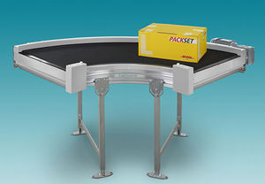 belt conveyor / for the food industry / for the pharmaceutical industry / curved