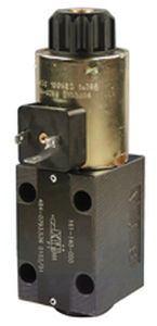 poppet hydraulic directional control valve / hydraulically-operated / 4-way