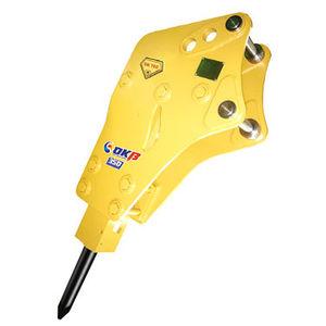 hydraulic breaker / for backhoe loaders / vertical / side-mounted