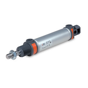 pneumatic cylinder / with through rod / magnetic piston / double-acting