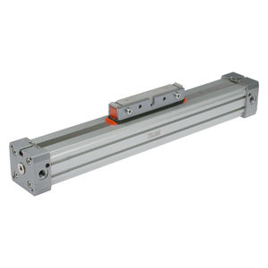 pneumatic cylinder / double-acting / rodless / with adjustable cushions