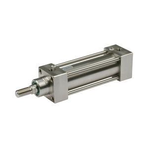 pneumatic cylinder / single-acting / double-acting / with through rod
