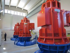Francis turbine / hydraulic / horizontal shaft / vertical shaft