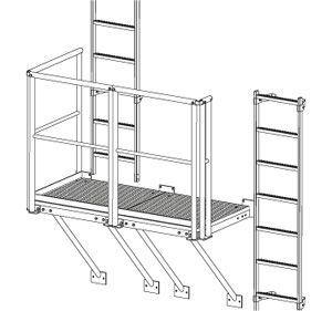 stainless steel ladder / galvanized steel / single / roof