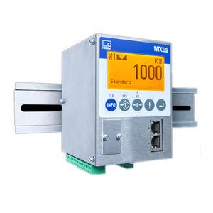 digital weighing terminal / LCD display / DIN rail / IP69