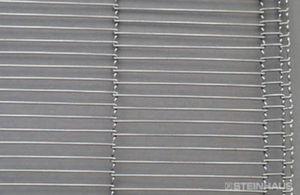 wire mesh conveyor belt / steel / for the food industry / low-temperature-resistant