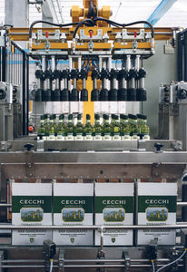 top-loading case packer-unpacker / automatic / cylinder / for the food and beverage industry