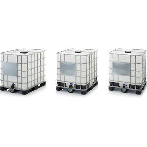 HDPE IBC container / for liquids / hazardous materials / storage