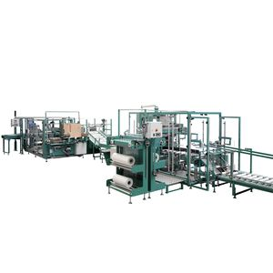 wrap-around case packer sleeve wrapping machine