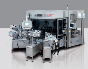 automatic labeler / for self-adhesive labels / top / with camera vision system