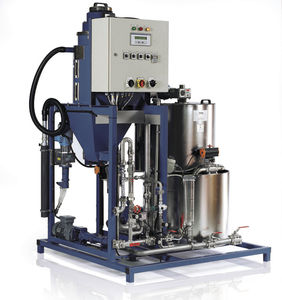 screw mixer-dispenser / for liquid polyelectrolytes
