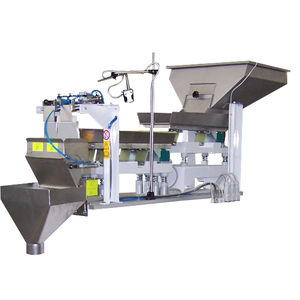 linear weighing machine / for bulk materials / with gravity feed