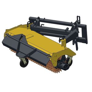 tractor sweeper / hydraulic / compact