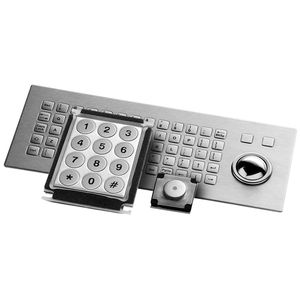 panel-mount keyboard / with mechanical keys / without pointing device / stainless steel