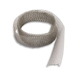 flat gasket / nickel-plated / copper / wire mesh