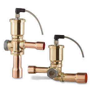 expansion valve / piston / electrically-actuated / right-angle