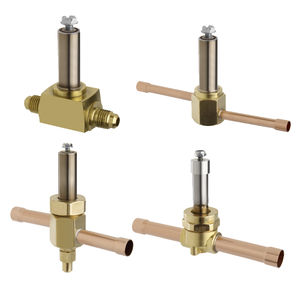 2-way solenoid valve / NC / NO / brass