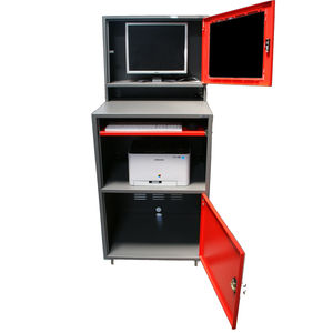 office cabinet / floor-mounted / for computer / lockable