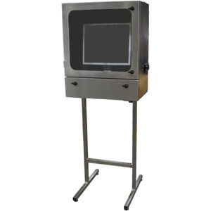 protective cabinet / free-standing / stainless steel / for computer