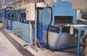 thermal cleaning tunnel / water / automatic / for the chemical industry