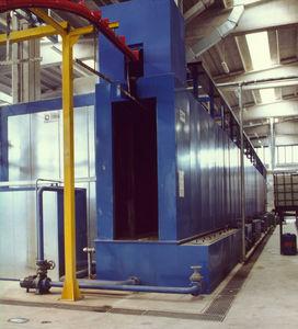 overhead conveyor washing tunnel