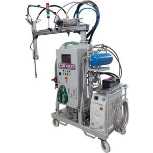 resin mixing and metering unit / high-precision