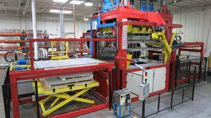 twin-sheet thermoforming machine