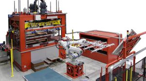 panel thermoforming machine / laboratory / automatic / industrial