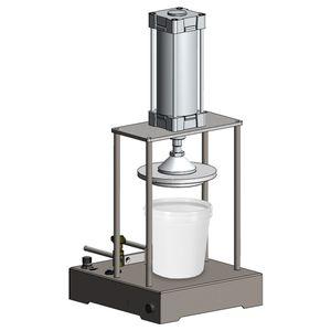 pressure capping machine / pneumatic / manual / semi-automatic