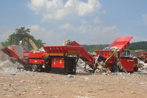building site waste recycling unit / waste tire / for process lines