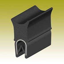 EPDM profile / PVC / grooved / for sealing