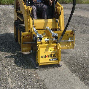 skid steer loader cold planer / compact / for asphalt
