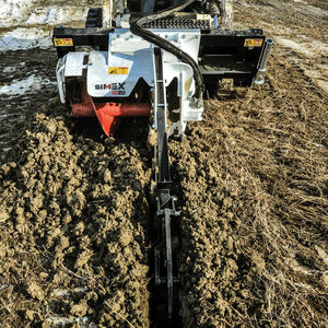chain trencher / tracked / for skid steer loaders