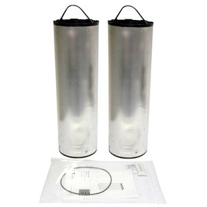air filter cartridge / activated carbon / metal / high-efficiency