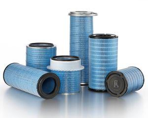 air filter cartridge / fine / cellulose fiber / pleated