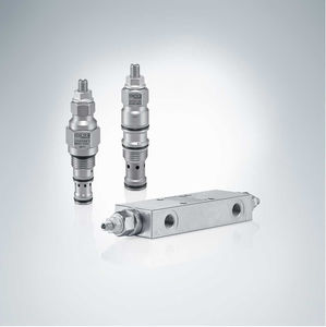 balancing valve / piston / hydraulically-operated / pressure-control
