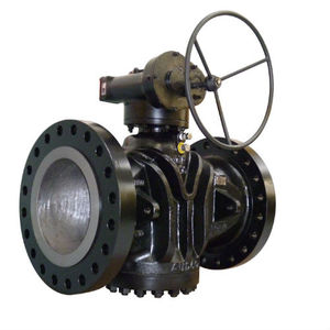 plug valve / with handwheel / isolation / flange