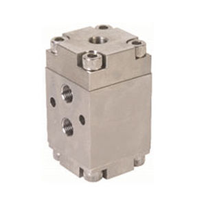 spool pneumatic directional control valve / air-operated / solenoid-operated / 3/2-way